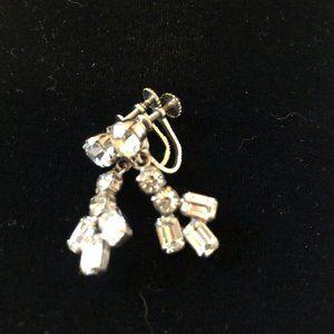 Vintage Rhinestone Earrings - Bling!